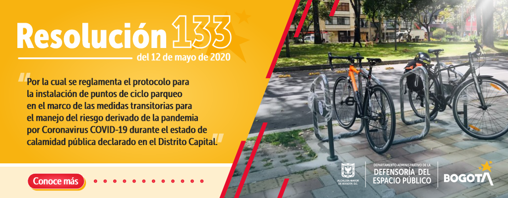 Particulares podrán solicitar al distrito la instalación de cicloparqueadero en el espacio público.